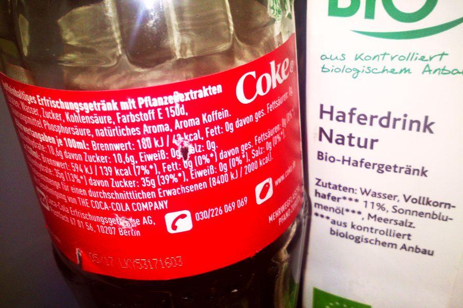 Cola vs. Hafermilch