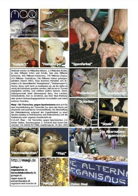 Veganismus-Bilder Vorderseite